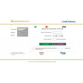 Module Prestashop banque CIC Monetico 1x avec installation