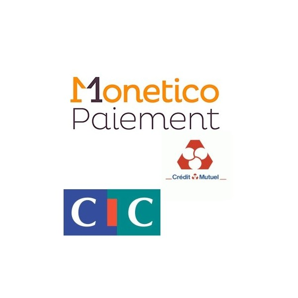 Pack de deux modules Prestashop CMCIC Monetico banque CIC