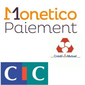 Pack de deux modules Prestashop CMCIC Monetico banque Credit Mutuel