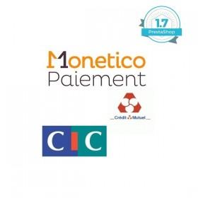 Module Prestashop CMCIC Monetico Credit Mutuel 1x avec installation